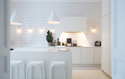 7 Pale and Interesting Kitchens