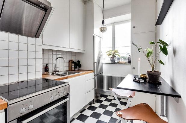 Wie richtig: das Layout der engen Küche (25 photos)   How I can...