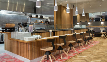 Bjelin herringbone flooring in Sushi restaurant. Trondheim, Norway.