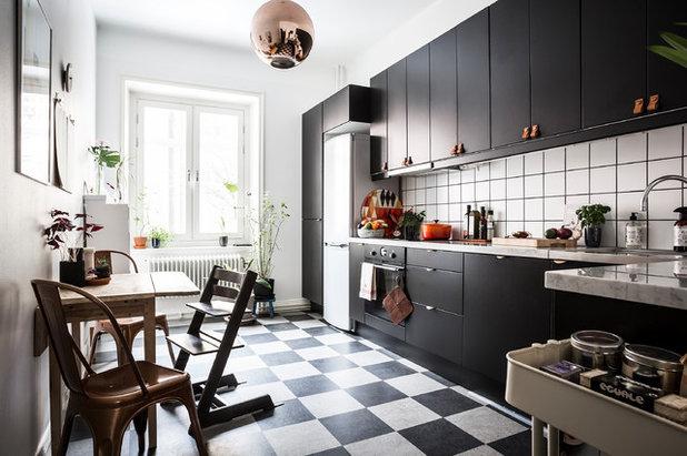 Le carrelage en damier noir et blanc un basic pour sol chic for Carrelage sol cuisine point p