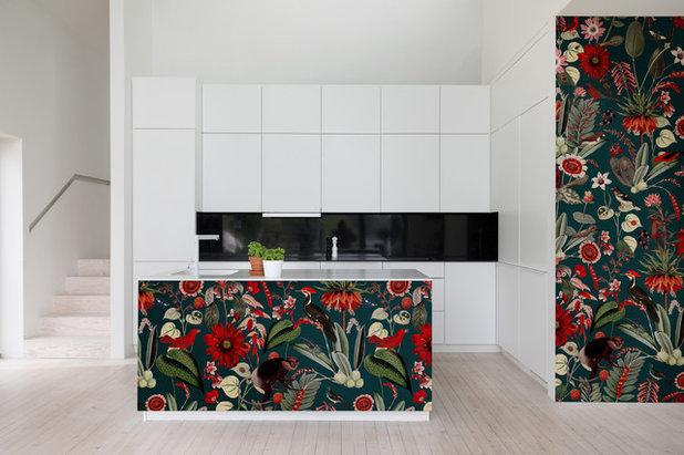 コンテンポラリー キッチン by Rebel Walls