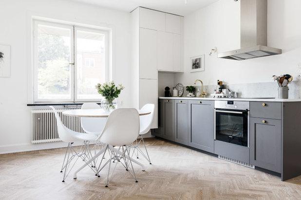Skandinavische Landhausküche goldfarbene armaturen für mehr glam in küche bad