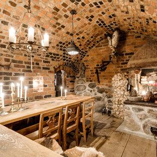 Foto på ett rustikt kök