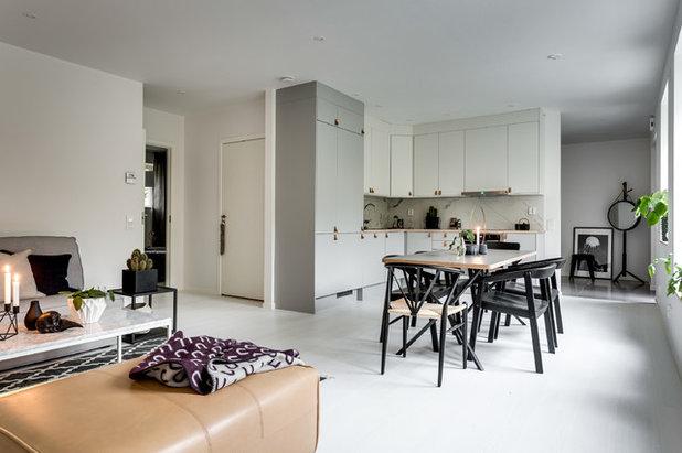 壁付けキッチンでLDKを広く使う、L型キッチンのメリット   Houzz