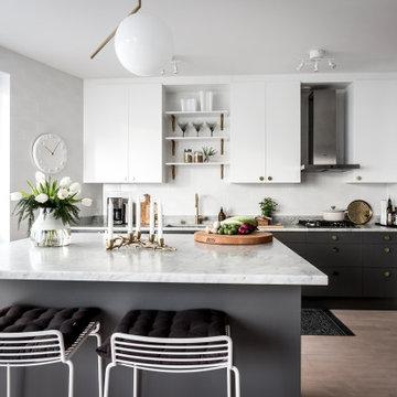 Hel köksrenovering med IKEA stommar