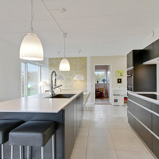 This is an example of a modern kitchen in Aalborg.