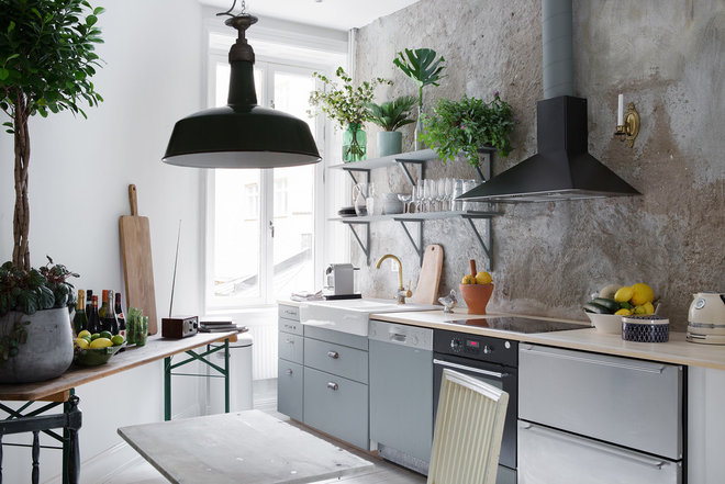 Industrial Kitchen by Redaktionen Houzz Norden