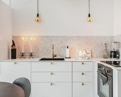 skandinavische k chen mit laminat arbeitsplatte ideen. Black Bedroom Furniture Sets. Home Design Ideas