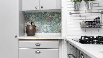 Köksbänk med kant i carrara marmor