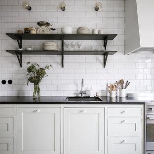 Foto på ett minimalistiskt kök