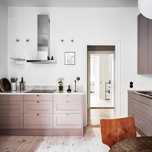 Inredning av ett nordiskt mellanstort kök