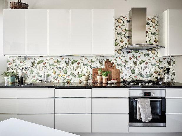 Papel pintado para la cocina c mo elegirlo y colocarlo - Papel pintado sobre azulejos ...
