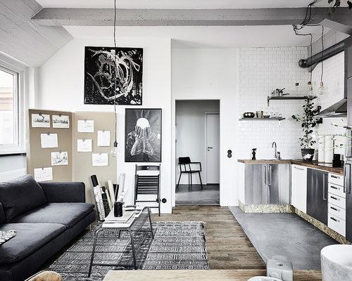 Kök kök industriellt : Foton och inspiration för industriella kök med öppen planlösning