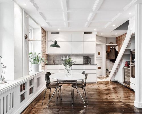 Küche Mit Holzboden : Coffered Ceiling