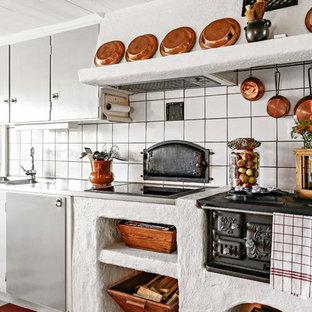 Inspiration för stora skandinaviska linjära kök