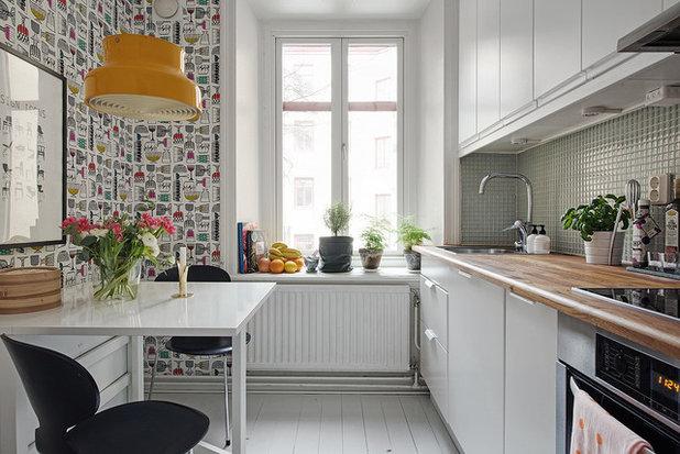 12 carte da parati per rallegrare una cucina bianca for Parati da cucina