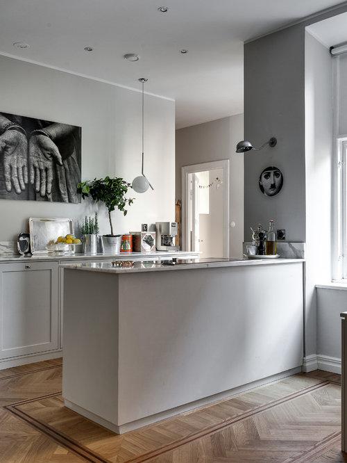 zweizeilige skandinavische k che ideen bilder. Black Bedroom Furniture Sets. Home Design Ideas