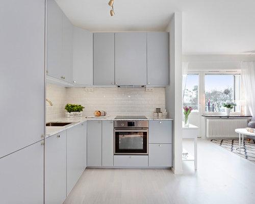 Küchen mit Rückwand aus Zementfliesen in Schweden Ideen, Design ...