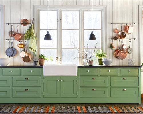 Landhausstil Küchen mit Laminat-Arbeitsplatte Ideen & Bilder | HOUZZ