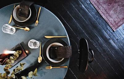 Indret hjemmets sociale midtpunkt med et rundt spisebord