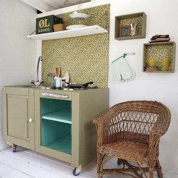 Color on kitchen drawer: Deligthful Kiwi G0.20.49.