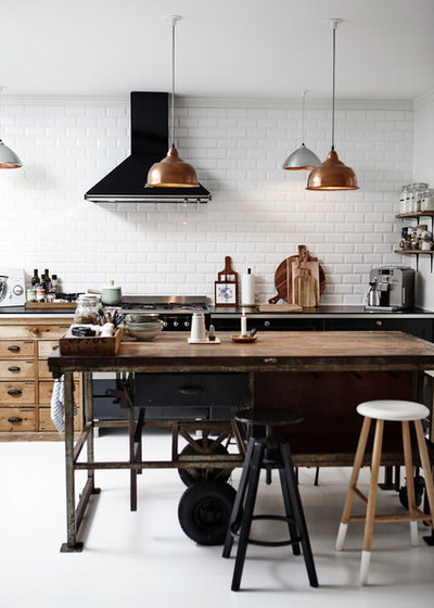 Industrial Kitchen by Mia Mortensen Photography