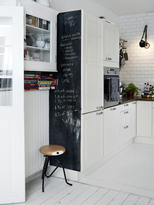 Kitchen Design Ideas Renovations Photos With Raised Panel Cabinets And Painted Wood Floors