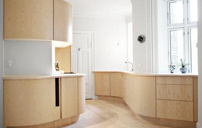 Просто фото: Кухни с радиусными фасадами