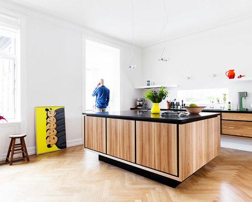 Http Houzz Com Photos Scandinavian Kitchen Cabinet Style Open