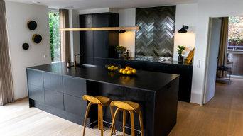 Sort stilfuldt køkken