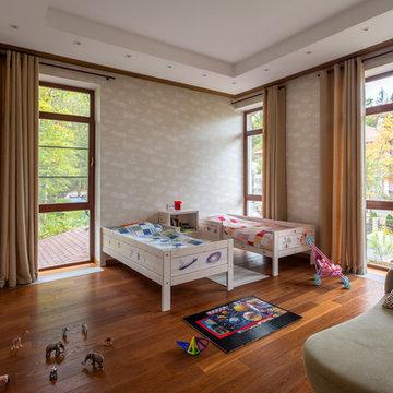 Детская комната загородного дома в Подмосковье
