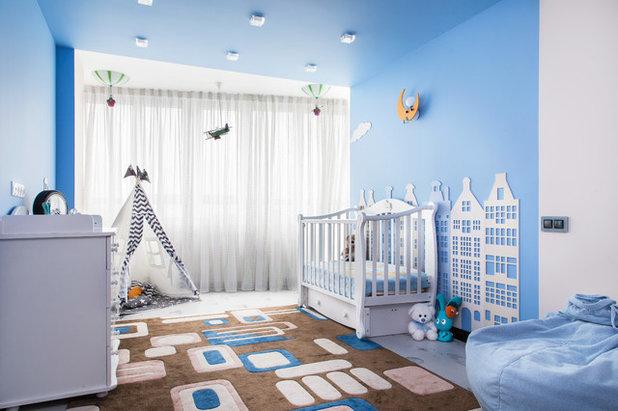 Contemporary Nursery by Team Design