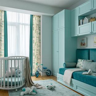 Свежая идея для дизайна: комната для малыша среднего размера в современном стиле - отличное фото интерьера