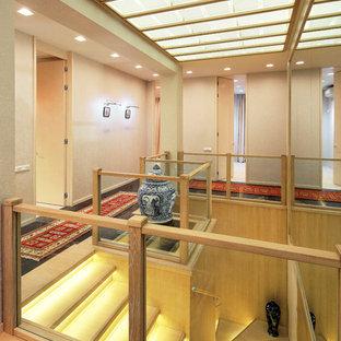 Новый формат декора квартиры: коридор в восточном стиле с бежевыми стенами