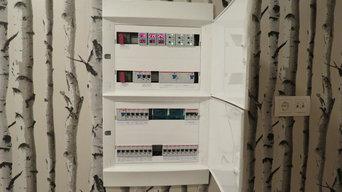 Электрощит, УЗО, защита от перенапряжений, распределение по фазам
