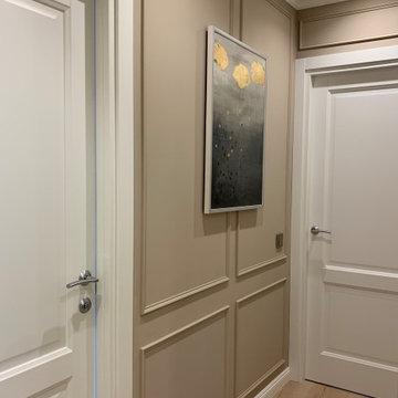 Интерьер трехкомнатной квартиры в светлых тонах