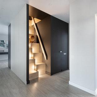 Свежая идея для дизайна: коридор в скандинавском стиле - отличное фото интерьера