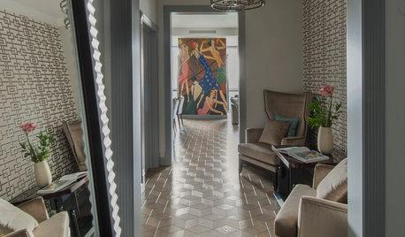 Houzz тур: Квартира с анфиладой и панно по картине Гордона Конвея