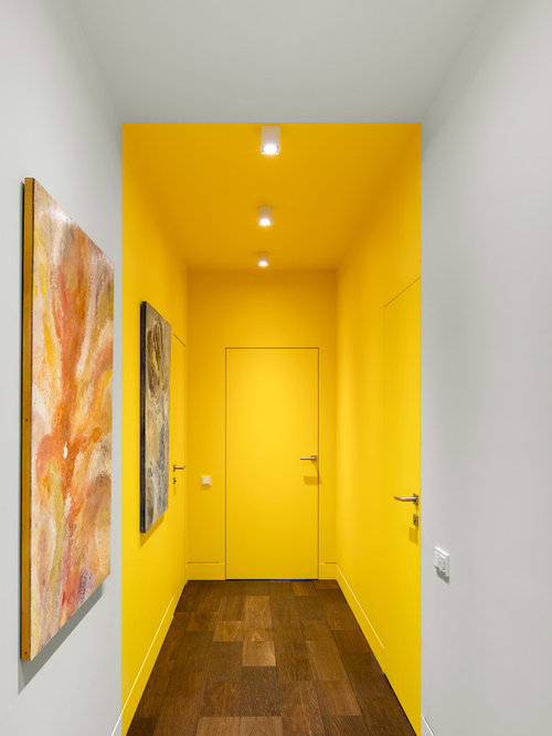 25 Best Contemporary Yellow Hallway Ideas & Decoration Pictures | Houzz