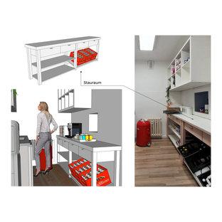 3D Küchenentwurf  und Umgebaute Vorratsschrank