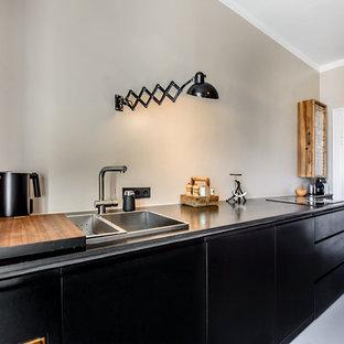 ミュンヘンのインダストリアルスタイルのおしゃれなキッチンの写真