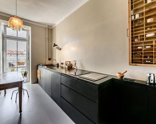 Einzeilige Küche einzeilige küchen ideen design bilder houzz