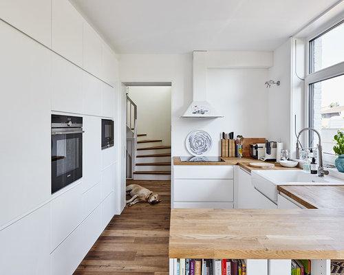 Skandinavische Küchen mit Landhausspüle Ideen, Design & Bilder   Houzz