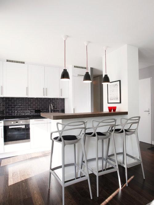 Moderne küchen mit halbinsel  Moderne Küche mit Halbinsel - Ideen & Bilder