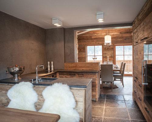 Küchen U Form Bilder rustikale küchen in u form ideen design bilder houzz