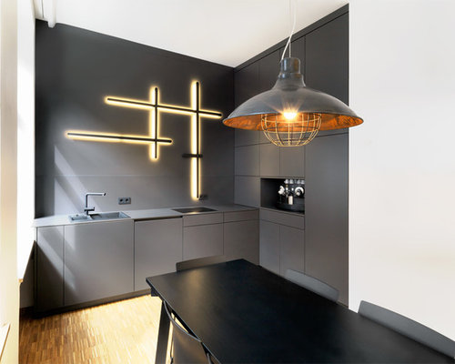 industrial k chen ideen bilder houzz. Black Bedroom Furniture Sets. Home Design Ideas