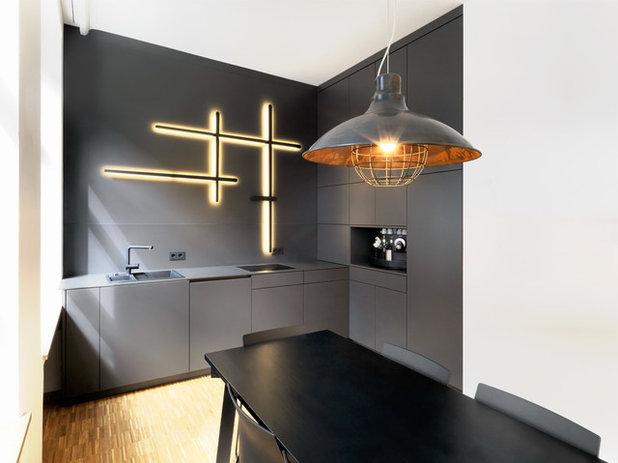 Effetti luce che danno alla casa un effetto astronave