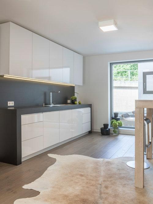 Small Modern Kitchen Ideas Part - 47: Small Modern Open Concept Kitchen Photos - Example Of A Small Minimalist  Single-wall Medium