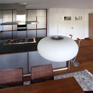Cucina con pavimento in legno massello medio Norimberga - Foto e ...