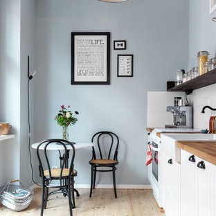 Small Scandinavian Eat In Kitchen Remodeling   Example Of A Small Danish  Single Wall